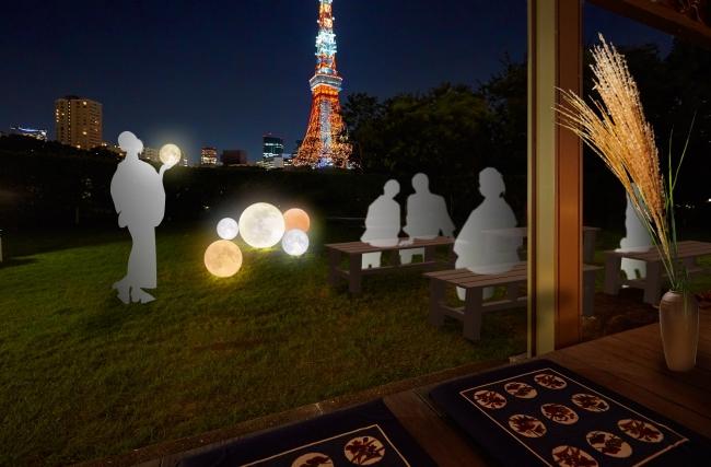 幻想的な和の空間に演出したTSUKIMI LOUNGE (イメージ)