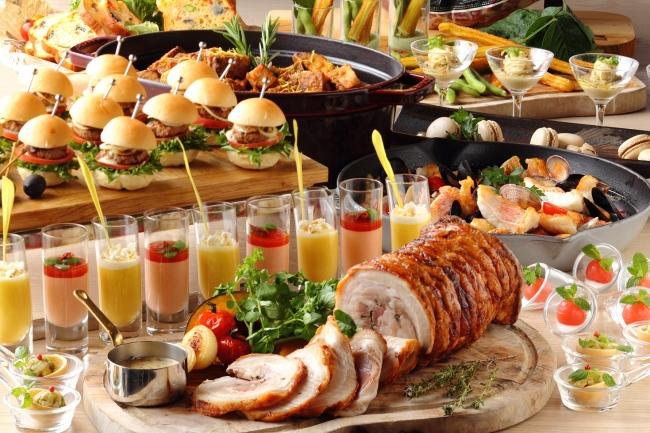 シャンパンやビールに合うフォトジェニックなビュッフェ料理を多数ご用意。