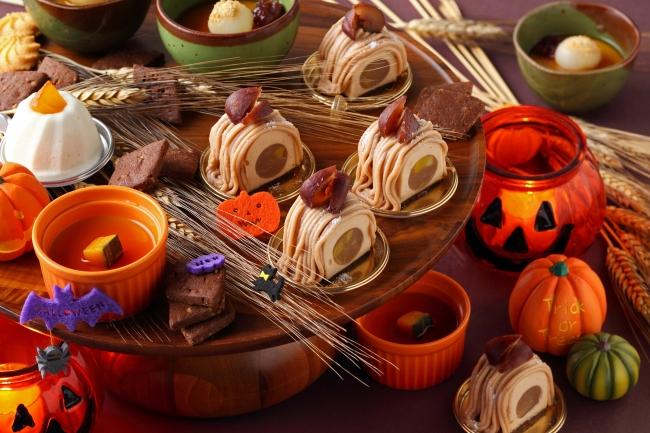 オールデイダイニング カザの「HAPPY HALOWEENディナービュッフェ」のにはハロウィンらしいデザートも登場!