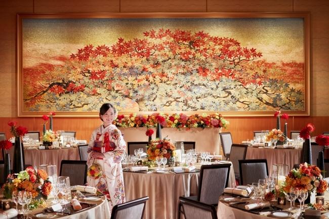挙式後はホテルで披露宴。  挙式後はこだわりを詰め込んだ披露宴でゲストをおもてなし