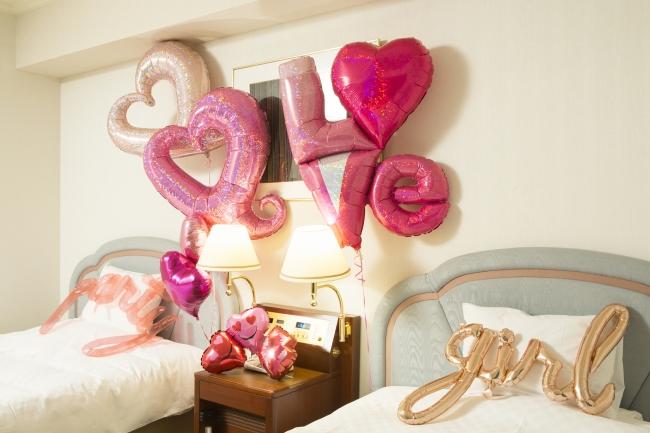 特典<ラグジュアリーツインルームのバルーン装飾>イメージ