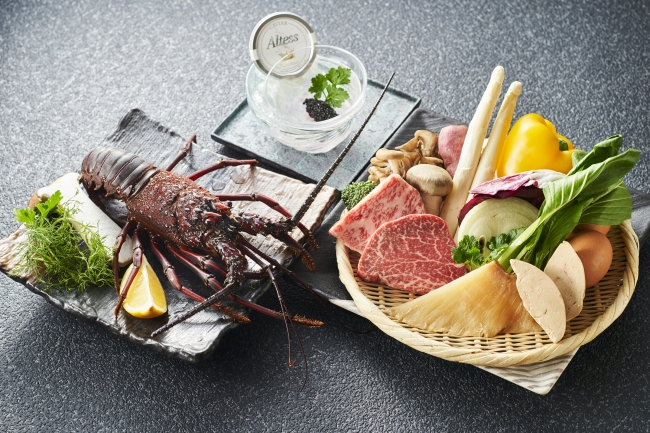特典<「鉄板焼なにわ」 ディナーコース>食材イメージ