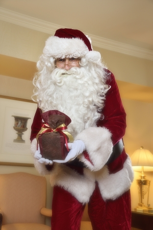サンタさんがお部屋にやってきます