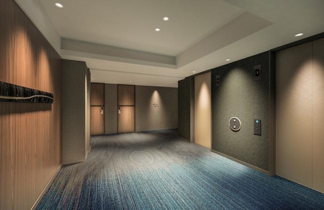 客室エレベーターホール(イメージパース)