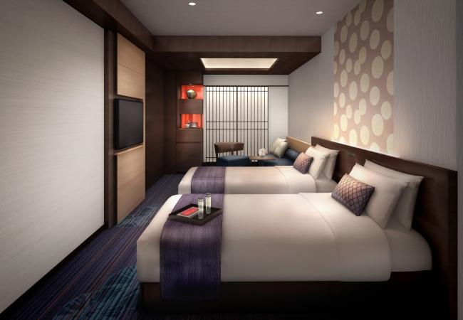 洗練された京のデザインと色調が魅力の スーぺリアツイン(26.4㎡)イメージ