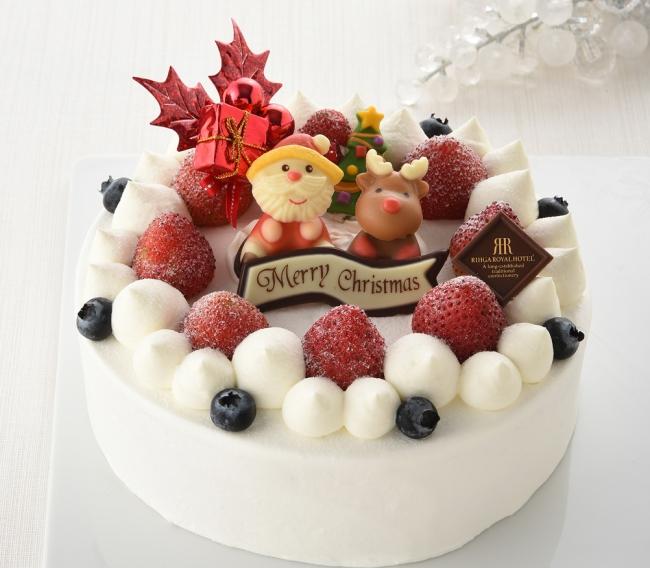 苺のデコレーションケーキ(直径:約18cm)
