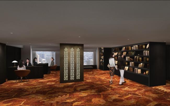ザ・プレジデンシャルタワーズ23階エントランス・専用フロント 改装後パースイメージ