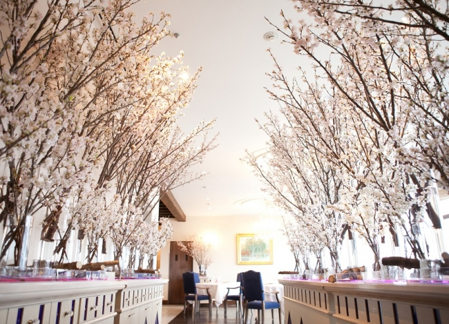 レストラン シャンボール桜装飾のイメージ(画像は過去開催時の様子)