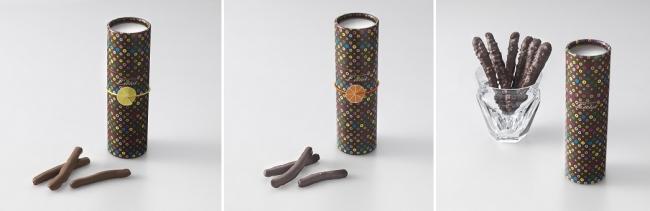 (左)レモンピール(中央)オランジェット(右)ポーズショコラ