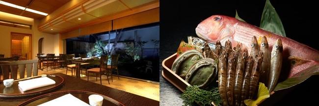 左:皿倉 店内イメージ/右:食材イメージ