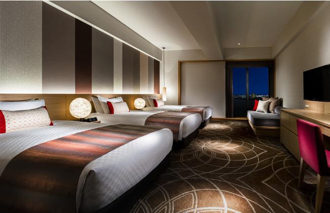 アニメに登場したホテルの客室のモデルとなった部屋