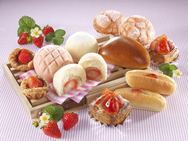 苺フェア パン