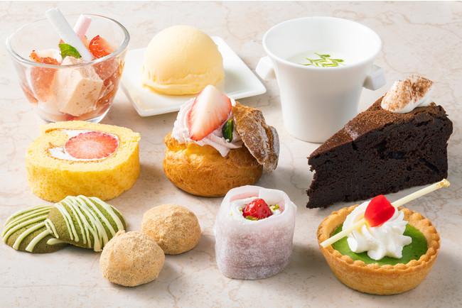 デザートは10種のデザートビュッフェに変更が可能 《セルフオーダー制》 (追加料金 1名様 1,815円)
