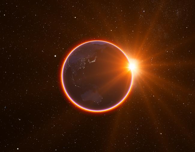 数量限定特典の 『紅環日食(月からみた皆既月食)原板』イメージ