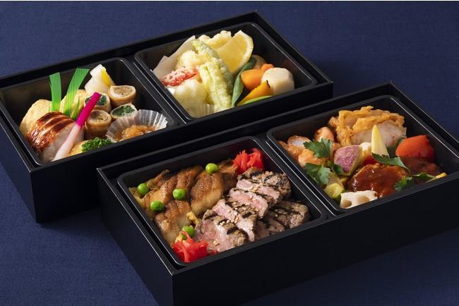 地元特産品などを使った料理を詰め込んだ彩り豊かな お持ち帰り用「和洋二段重弁当」をご用意(イメージ)
