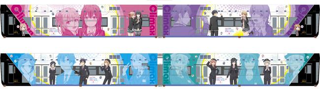 「俺ガイル」×「千葉都市モノレール」コラボラッピング列車