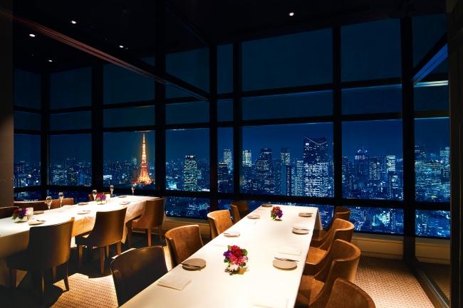 東京タワー側個室
