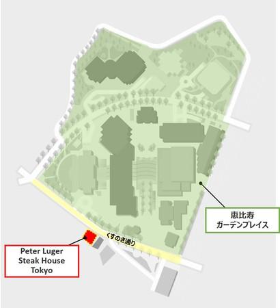 「Peter Luger Steak House Tokyo」MAP