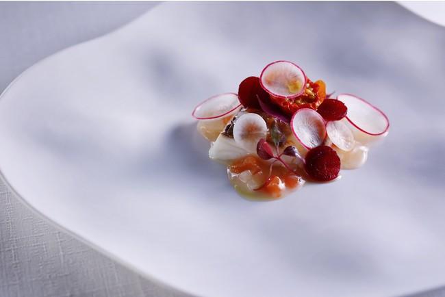 ▲明石鯛のヴァプール 淡路島産トマトのソース