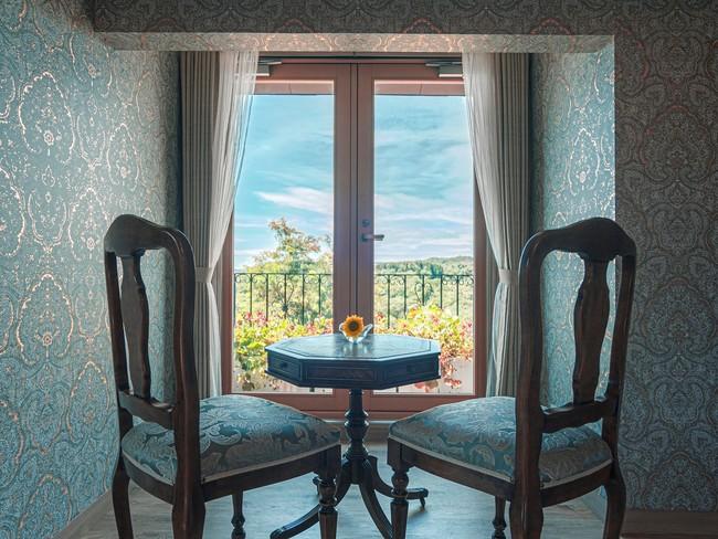 ▲淡路島の大自然を眺望できる部屋
