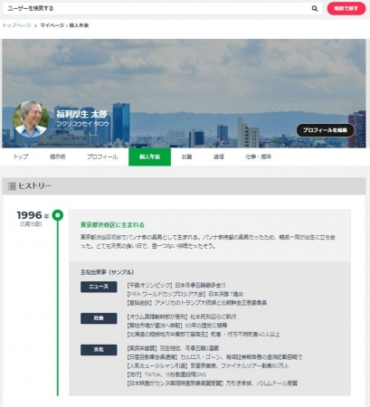 ▲サービス画面