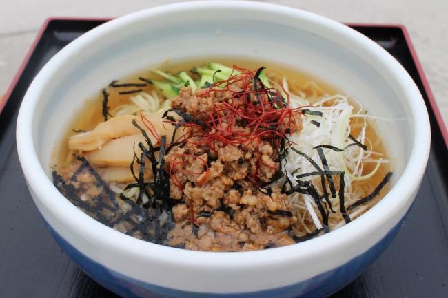 ▲初出場の道の駅「おおゆ」(秋田県) 『かづの牛だしスゥプ麺』