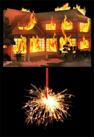 「家燃え花火」 イメージ
