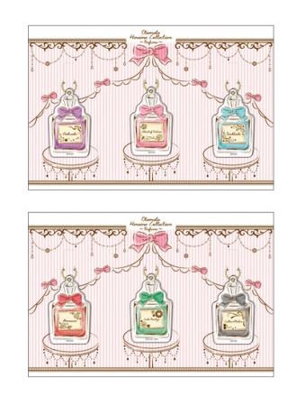 オトメイトヒロインコレクション~パフューム~ アクリルキーホルダーセット(上:A 、下:B)