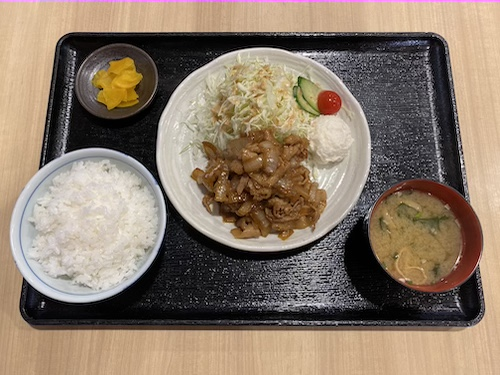 豚生姜焼き定食 750円(税込)