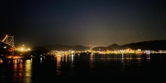 壇之浦PAから望む門司港レトロ一帯のロマンチックな夜景