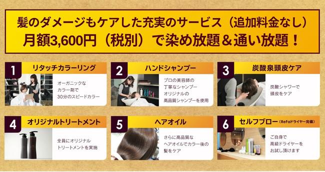 30分のリタッチカラー専門店 fufuR 定額制サービス詳細