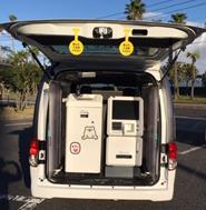 車両に搭載した小型ATM
