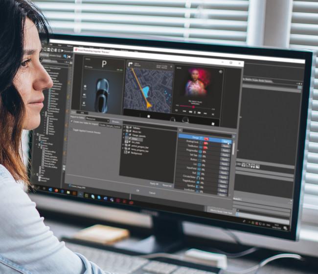 「Smart Photoshop Importer」 はUIアートワークを、フル機能を備えたHMIに自動的に変換します