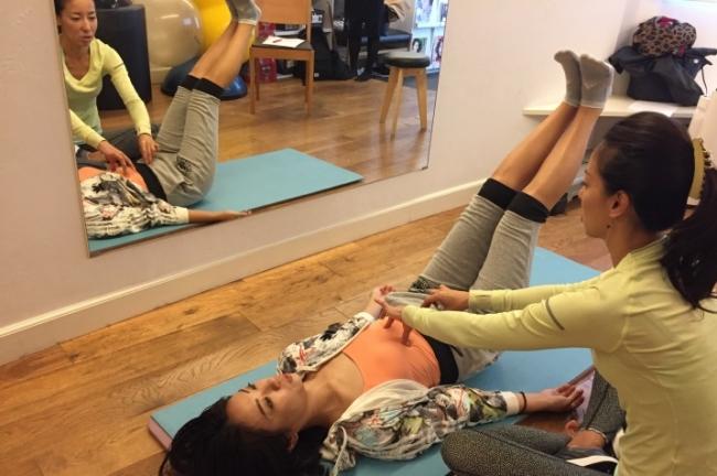 ソラーチェ代官山での腹筋トレーニング
