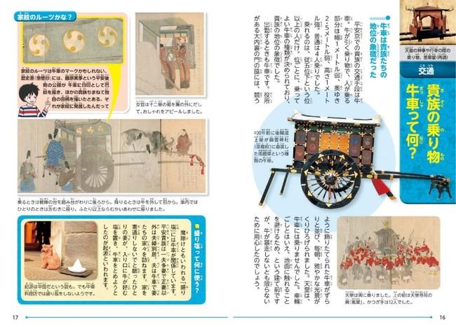 平安京の貴族の乗り物といえば牛車。地位の象徴でもあった。