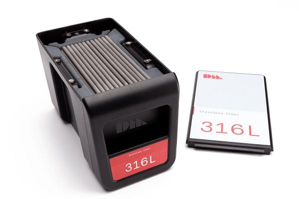 材料ロッドは「316L」など7種類が使用可能
