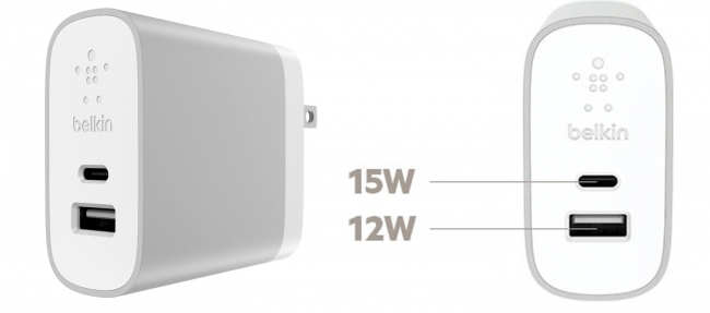 USB-C(TM) + USB-Aホームチャージャー (27W)