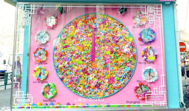 原宿の世界時計「Colorful Rebellion -WORLD TIME CLOCK-」