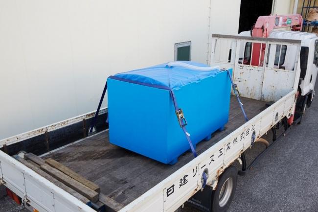 魚活ボックスによる輸送の様子(小ロットでも輸送が可能)