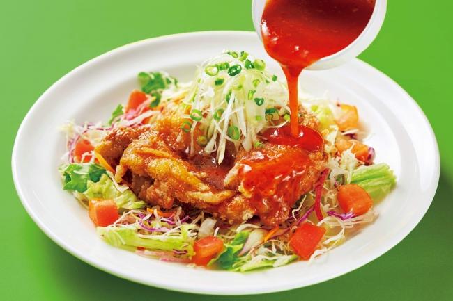 2種ソースで味わうさっぱり油淋鶏