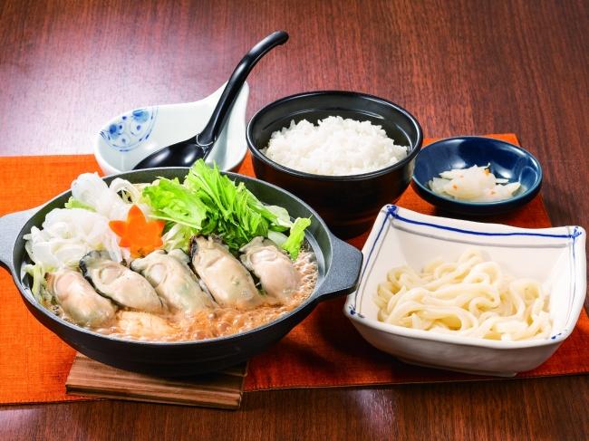 牡蠣の味わい味噌鍋膳