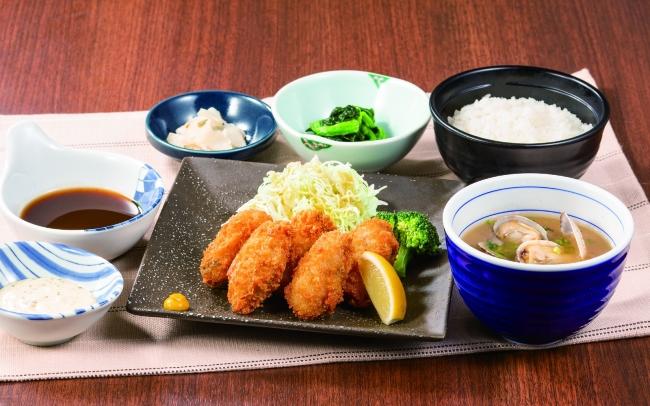 広島産牡蠣フライ膳