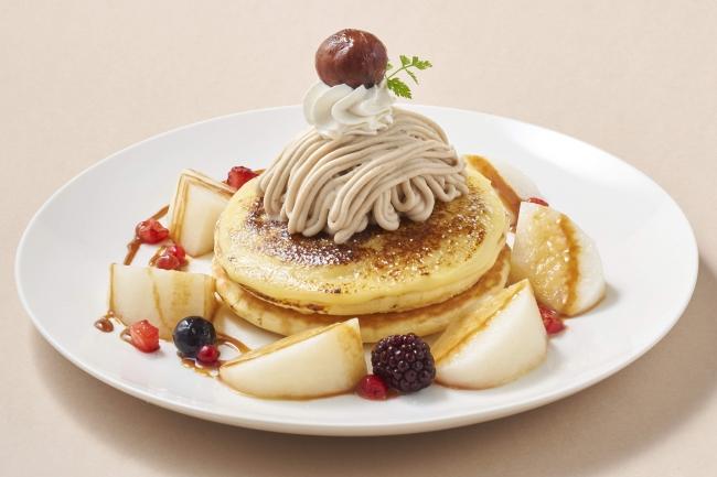 渋皮マロンとにっこり梨のブリュレパンケーキ