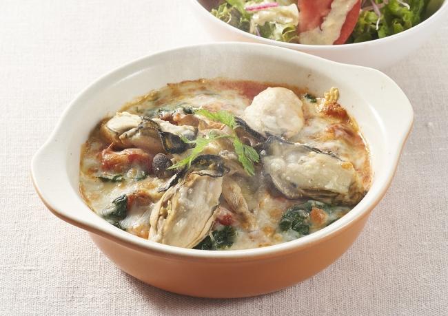 広島産大粒牡蠣のクリーミードリア