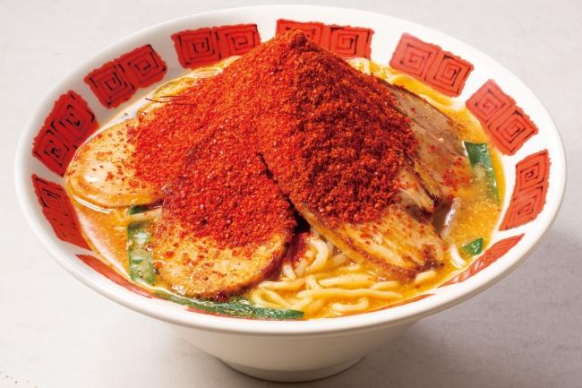 鶏と豚!2種炙り叉焼の味噌ラーメン+一味唐辛子