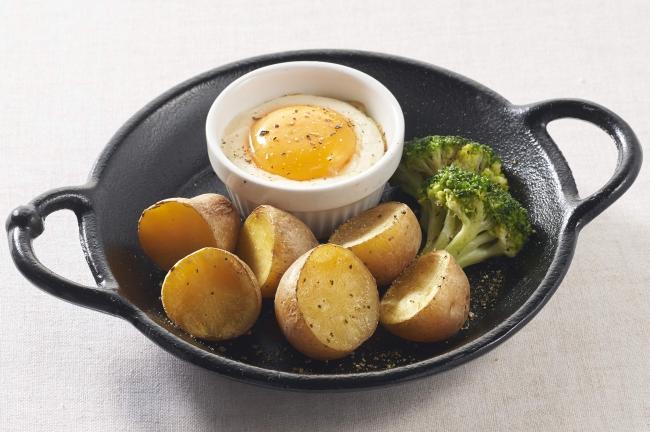 北海道産インカのめざめ 4種チーズのカルボナーラ風ディップ
