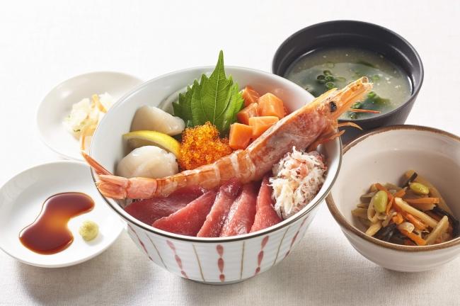 豪華!海鮮丼膳 みそ汁・小鉢・漬物つき