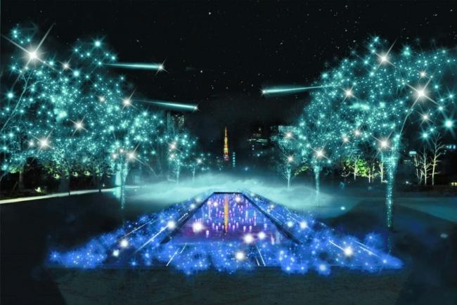 水景を舞台とした水と光の共演が広がります。(写真:イメージ)