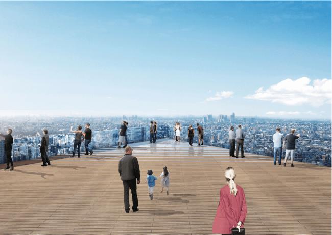 ▲「SHIBUYA SKY」屋上展望空間からの眺望イメージ