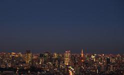 ▲屋上からの眺望(六本木方面・夜)